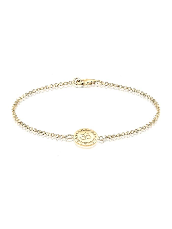 Elli Armband Om 925 Sterling Silber, Gold