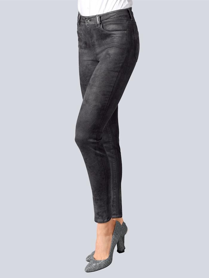 BRAX Jeans 'Shakira' in Wildlederoptik, Grau