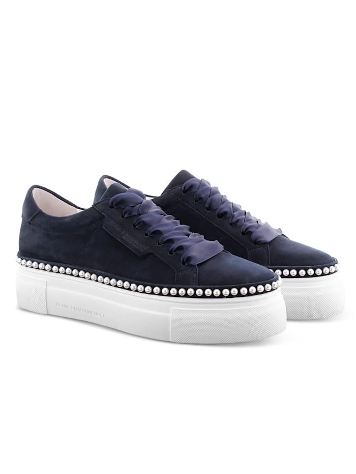 Kennel & Schmenger Sneaker mit kleinen Perlen, Marineblau