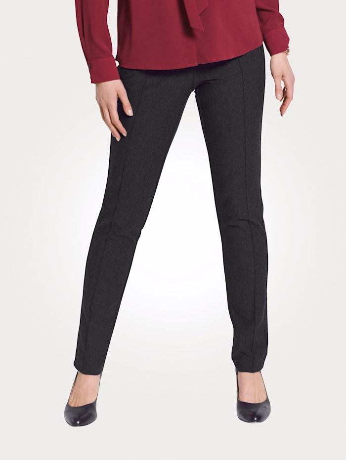 MONA Pantalon en jersey confortable, Anthracite