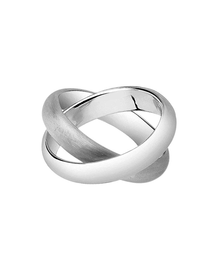 Ring Wickelring Basic Gebürstet 925 Silber