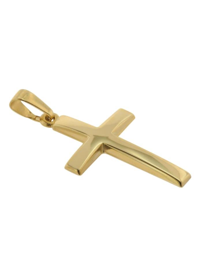 Kreuz Anhänger Gold 333 (8 Karat) mit goldplattierter Kette