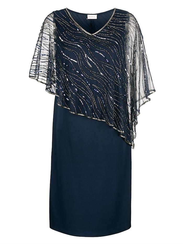 Kleid mit bestickten Überwurf