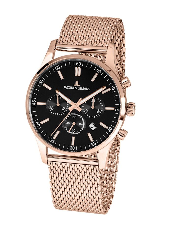 Jacques Lemans Herren-Uhr Chronograph Serie: London, Kollektion: Classic: 1- 2025I, Rosé
