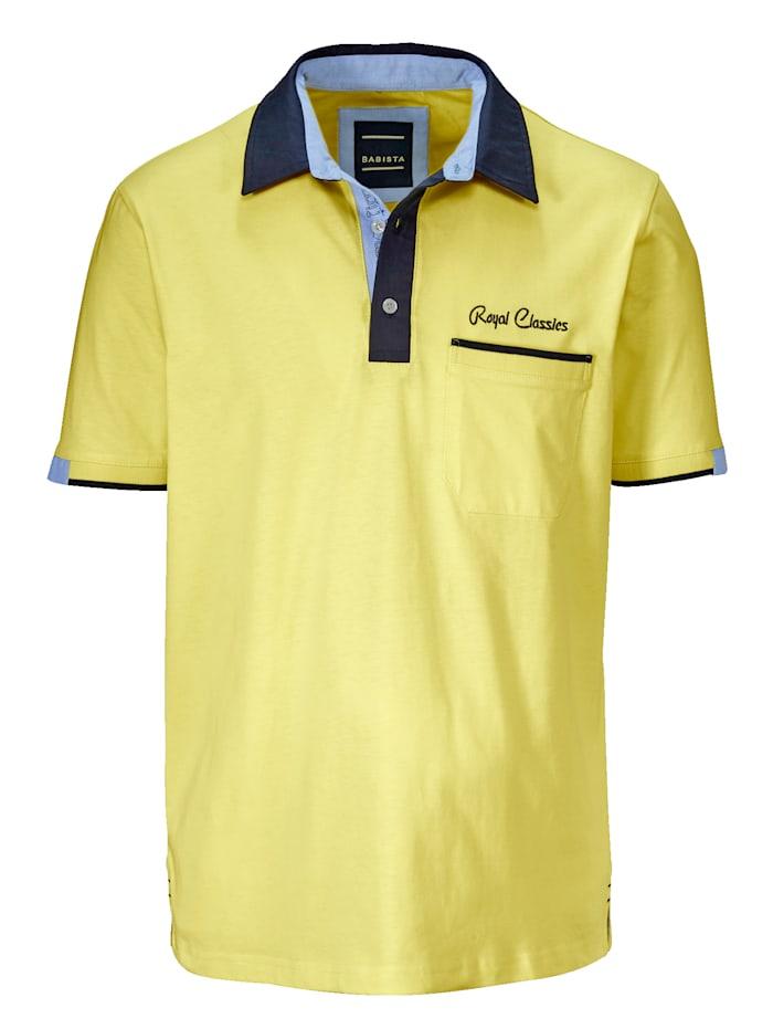 BABISTA Polo col chemise, Jaune