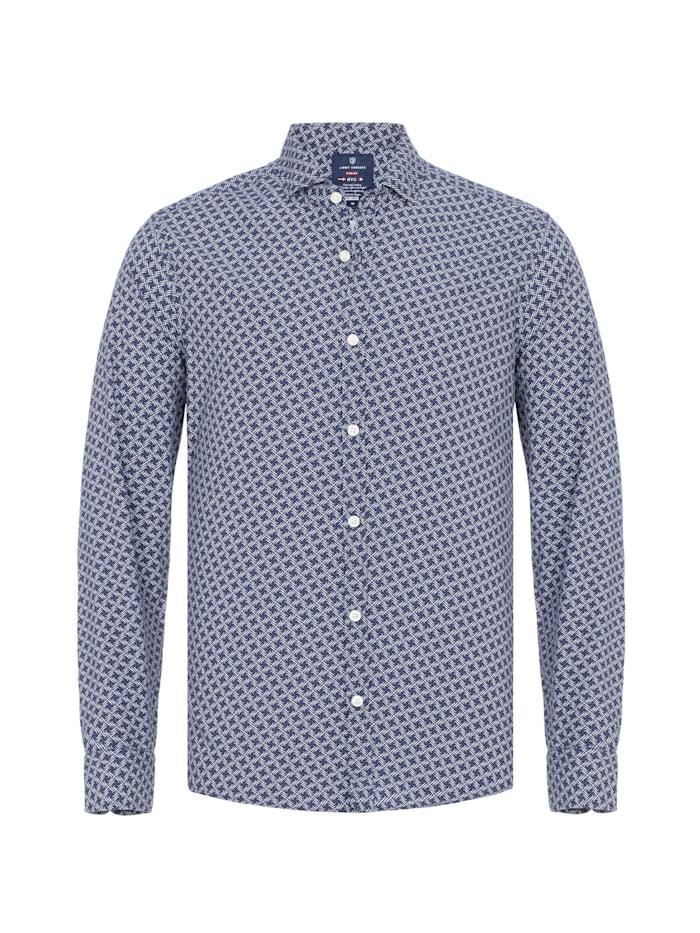 Jimmy Sanders Hemd Fidelio mit grafischem Allover-Muster, navy