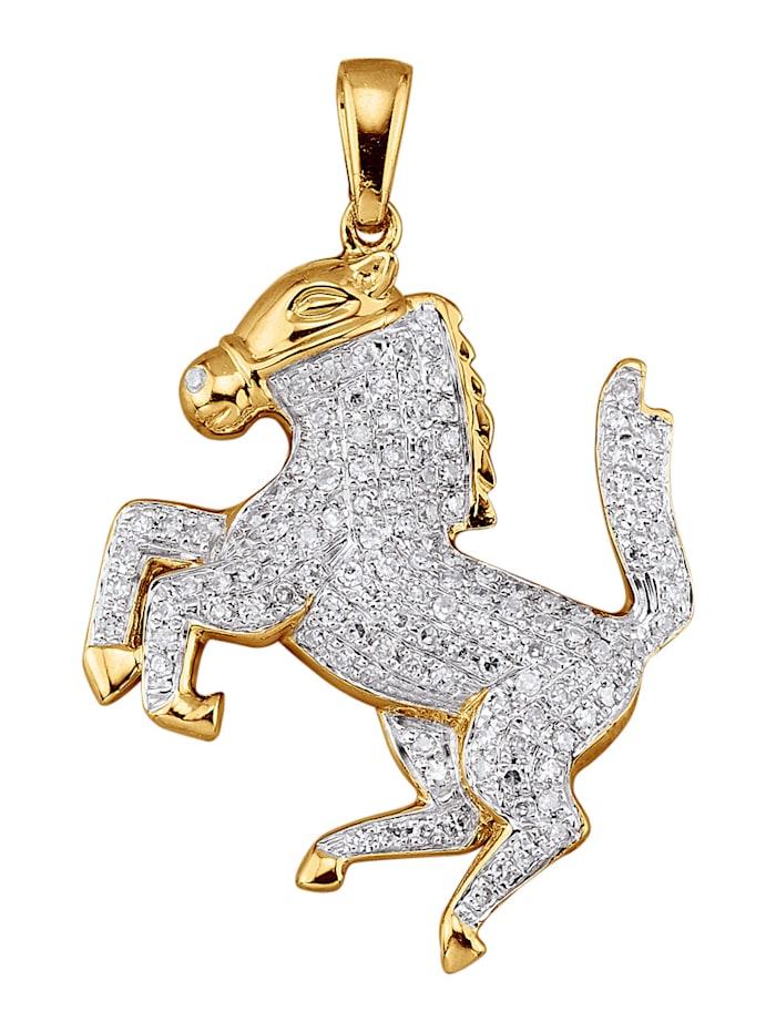 Diemer Diamant Anhänger mit Diamanten, Gelbgoldfarben