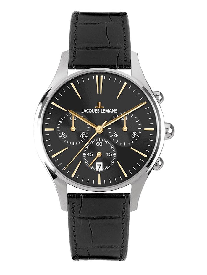 Jacques Lemans Herrenuhr-Chronograph Serie Cabri Kollektion Sport 1-1606ZC, Silberfarben/Grau
