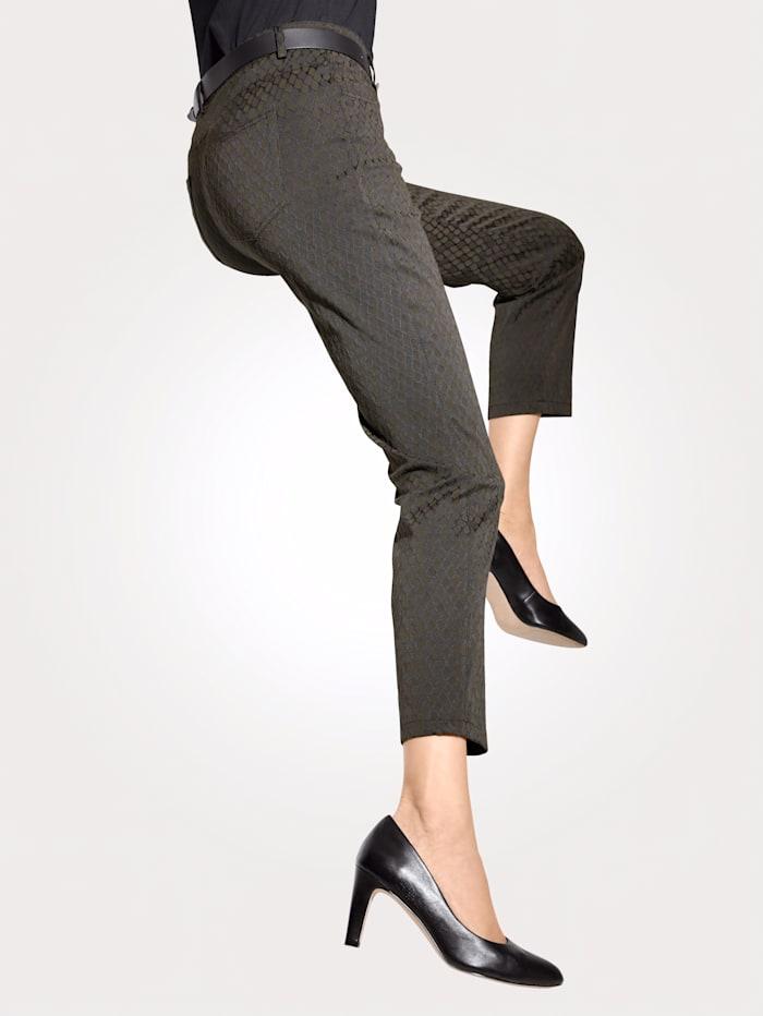 Pantalon à motif jacquard graphique