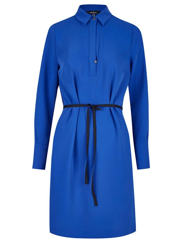 Daniel Hechter Modernes Kleid mit Bindegürtel, satin blue