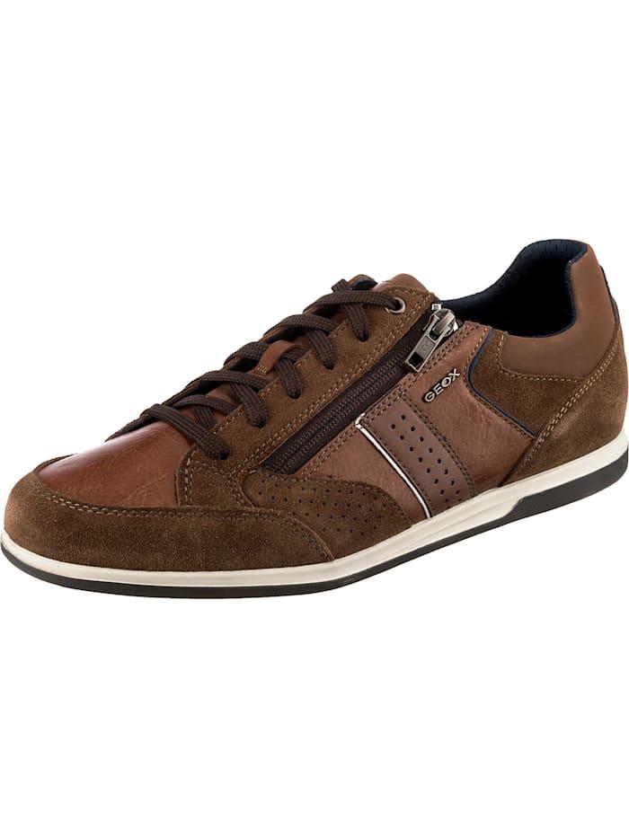 Geox U Renan Sneakers Low, cognac
