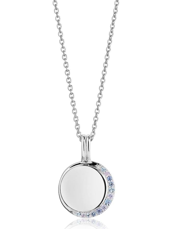 Sif Jakobs Sif Jakobs Jewellery Damen-Kette 925er Silber Zirkonia, Silber/blau