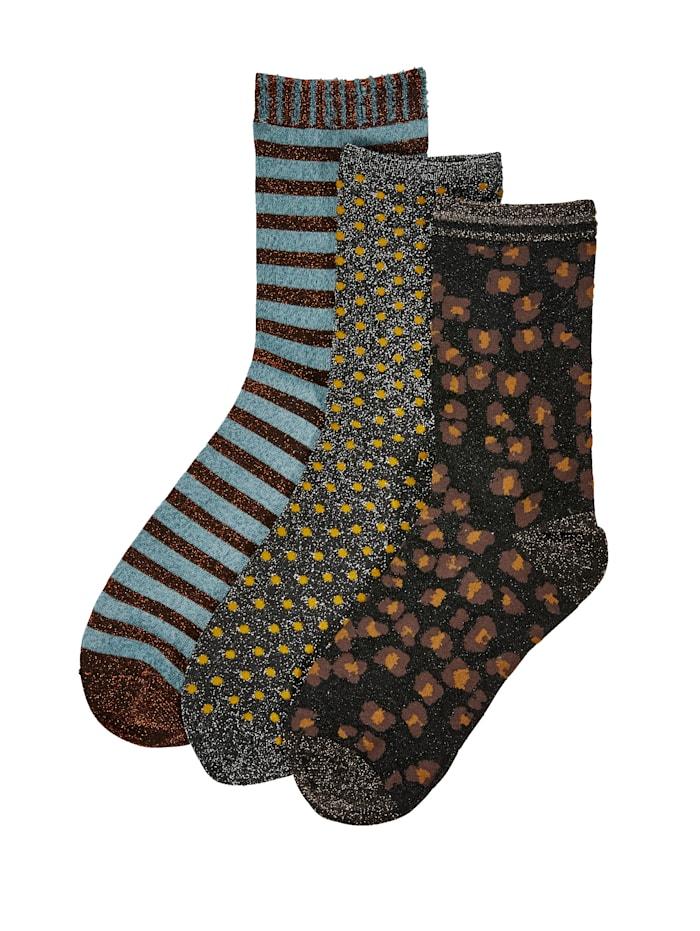 Unmade Copenhagen Socken-Set, 3-tlg., Braun