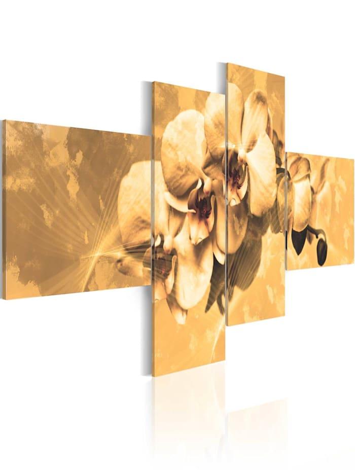 artgeist Wandbild Orchideen in Sepia, Creme,Beige