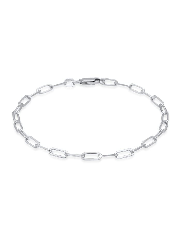 Elli Armband Glieder Oval Basic Chain Optik 925 Silber, Silber