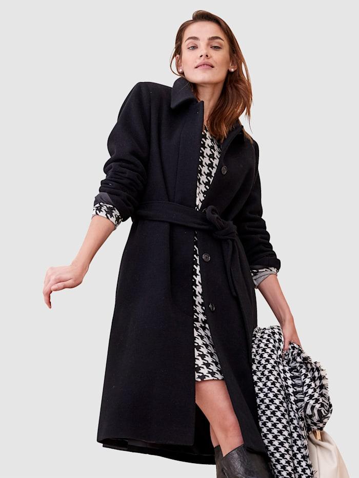 SIENNA Manteau en laine, Noir
