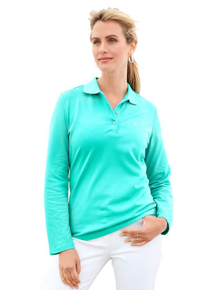 MONA Poloshirt aus Piqueeware, Mintgrün