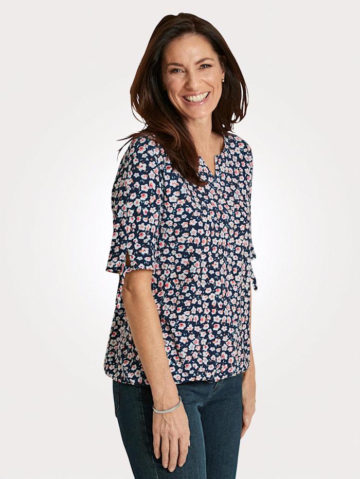 Rabe Shirt, Marineblau/Koralle
