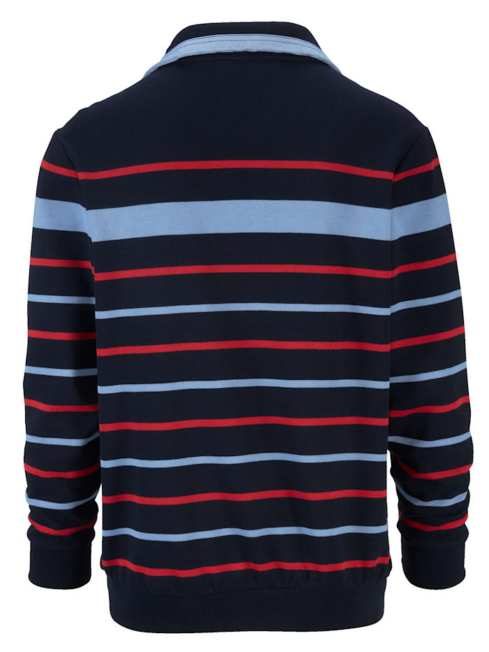 Sweatshirt med garnfarget stripemønster