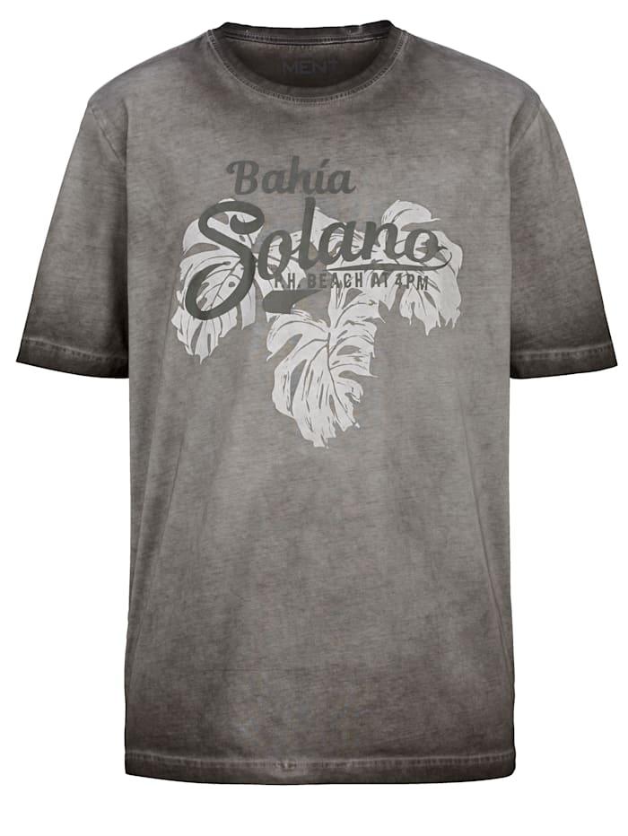 Men Plus T-Shirt aus reiner Baumwolle, Grau