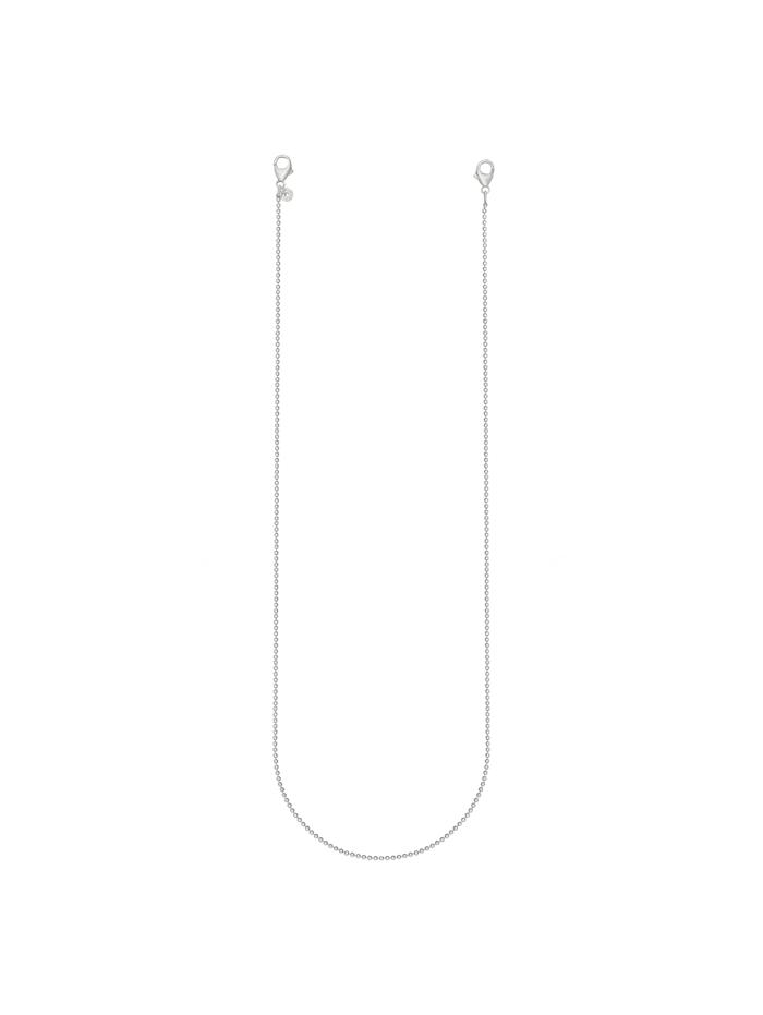 CAI Brillenkette Maskenkette 925/- Sterling Silber 50cm Diamantiert, weiß