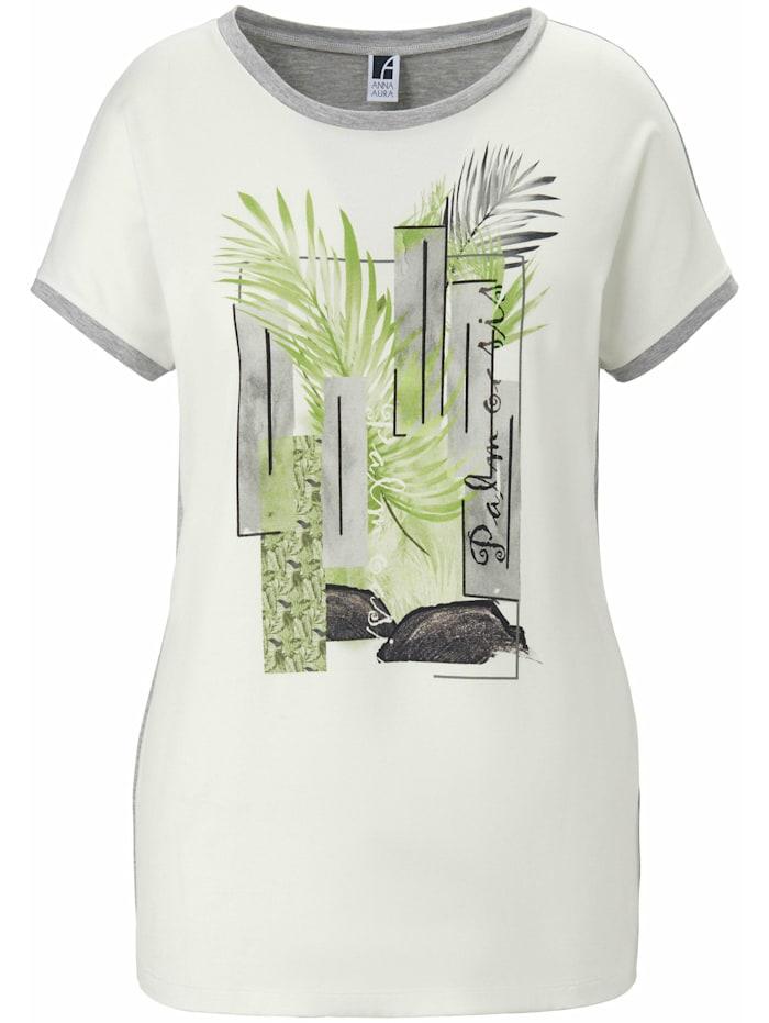 Emilia Lay Shirt Rundhals-Shirt Ton-in-Ton-Nähte, ecru/multicolor