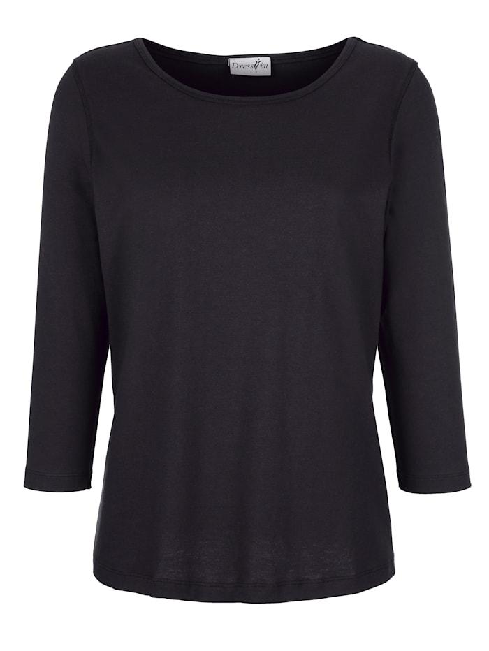 Dress In Shirt in trageangenehmer Qualität, Schwarz