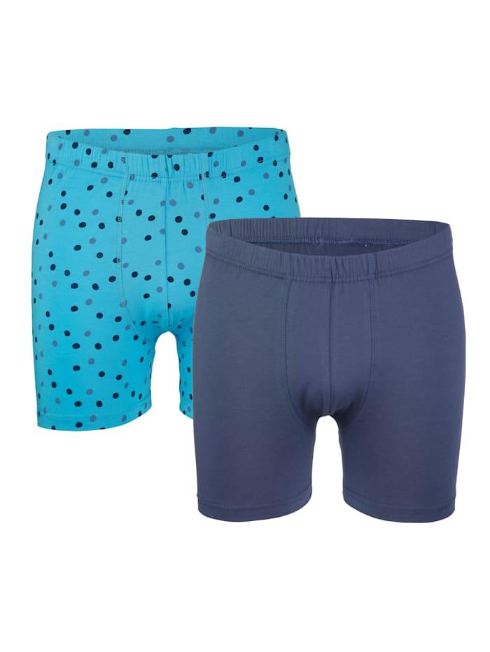 Boxershorts, Turquoise/Blauw