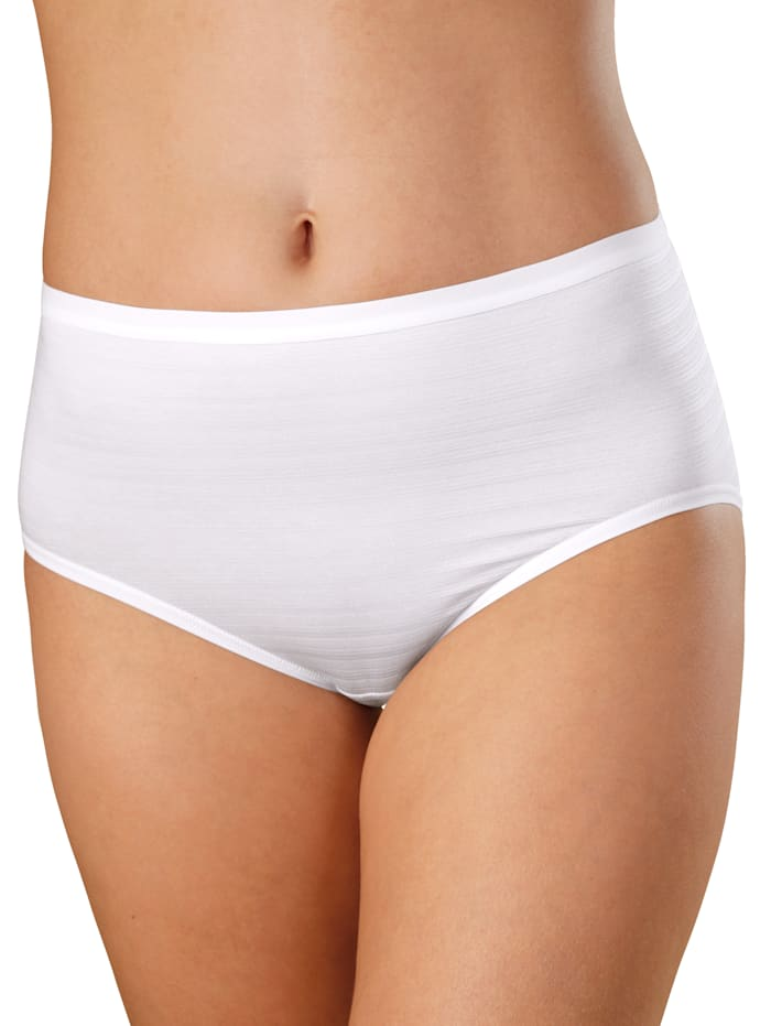 High rise briefs with a subtle striped print Pack of 2