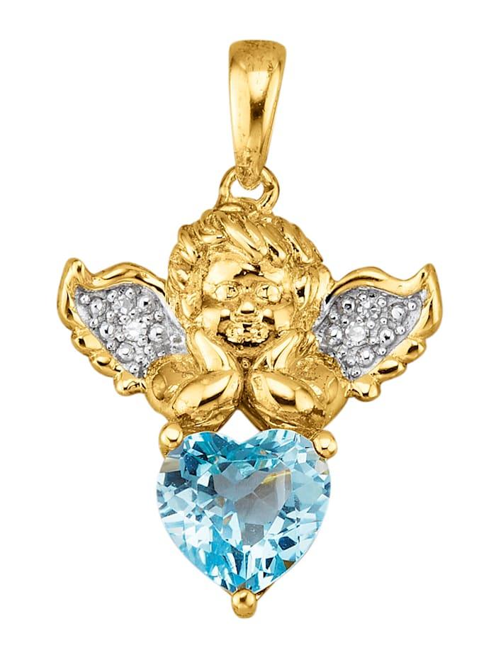 Amara Tendance Pendentif Signe du zodiaque Verseau, Bleu
