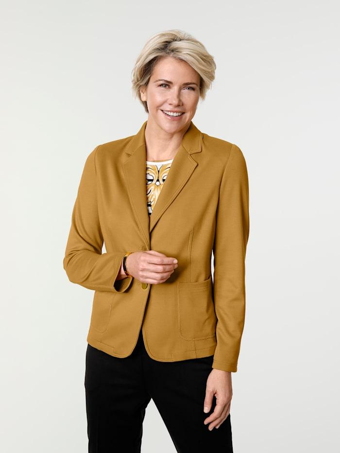 MONA Blazer en jersey extensible, Ocre