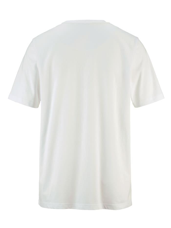 Shirt met neonkleurig contrast