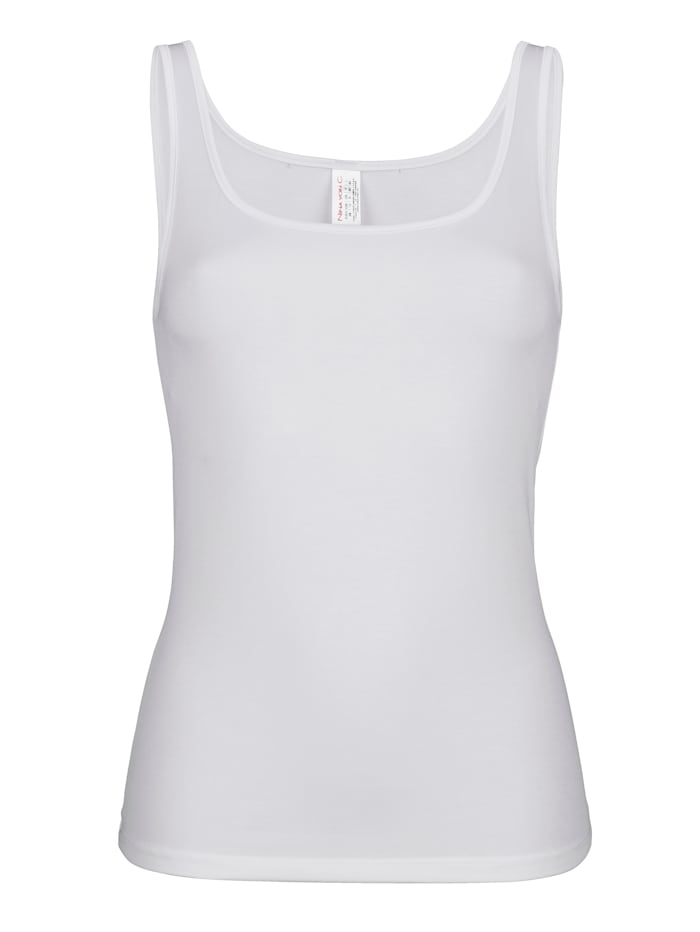 MONA Vest top made from a soft fabric blend, White