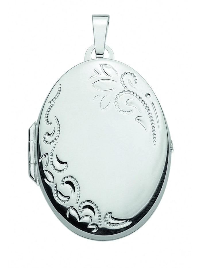 1001 Diamonds 1001 Diamonds Damen Silberschmuck 925 Silber Medaillon Anhänger, silber
