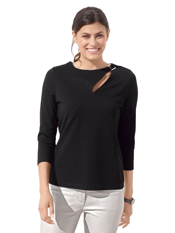 AMY VERMONT Shirt met cut-out, Zwart
