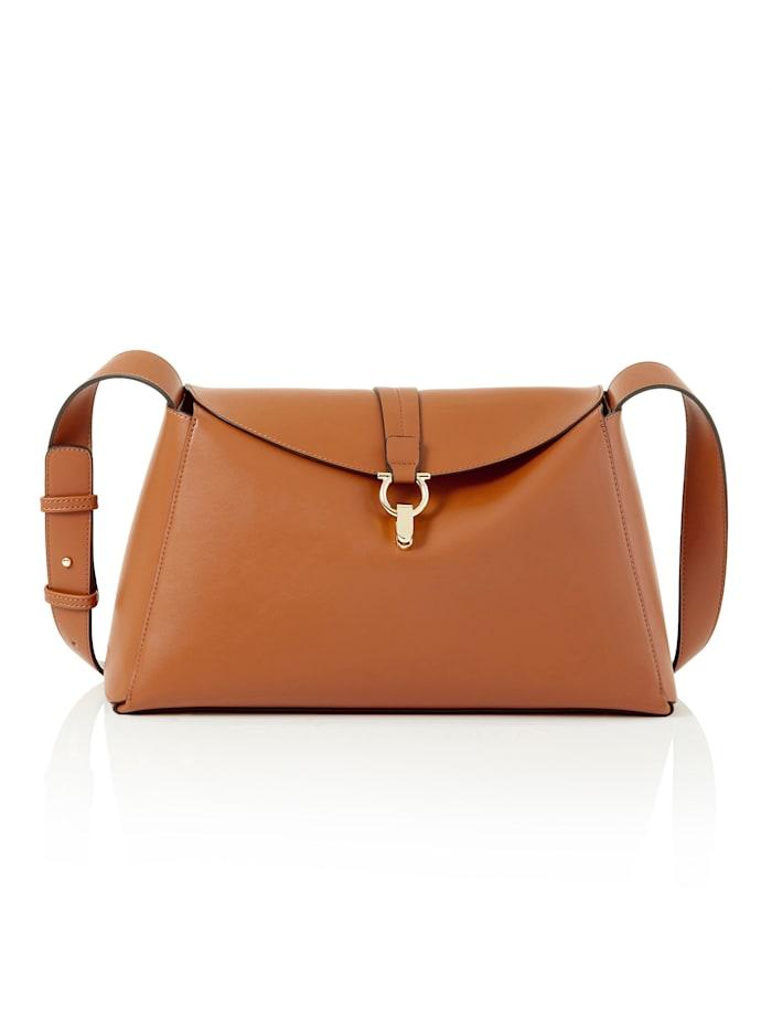 Seidenfelt Handtasche, Zimt