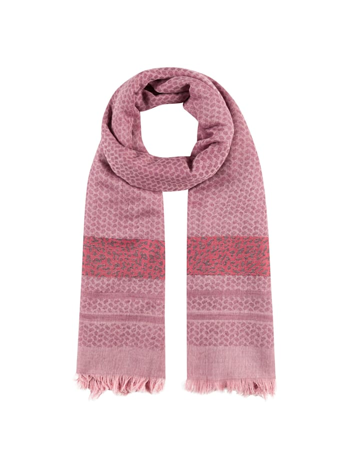 Codello Softer Oversized-Schal im Mustermix, dark rose