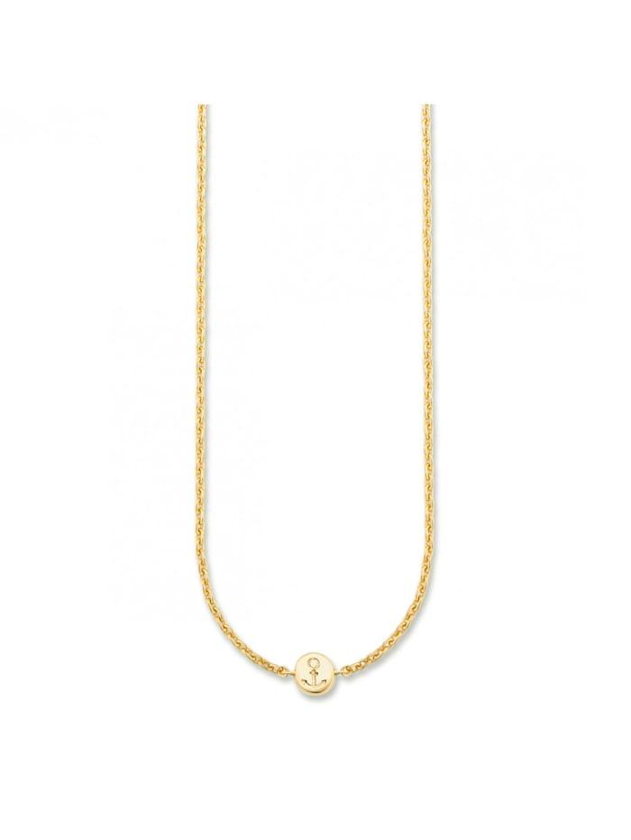 CAI Collier 925/- Sterling Silber 39+4cm Glänzend, gelb