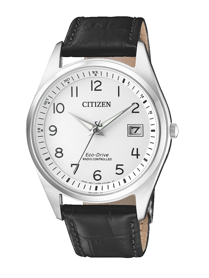 Citizen Herren-Funkuhr, Eco-Drive AS2050-10A, Schwarz