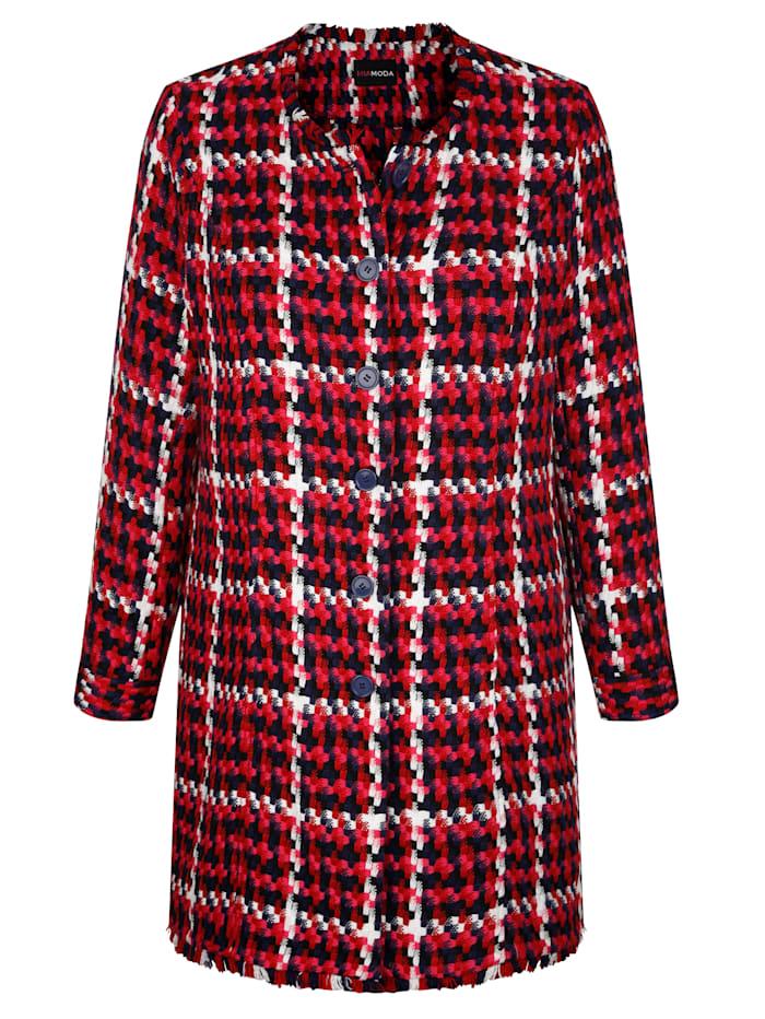 Veste longue d'aspect tweed