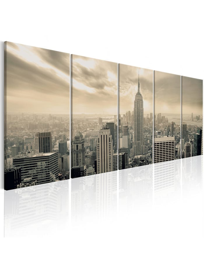 artgeist Wandbild Beige Manhattan, Beige,Schwarz