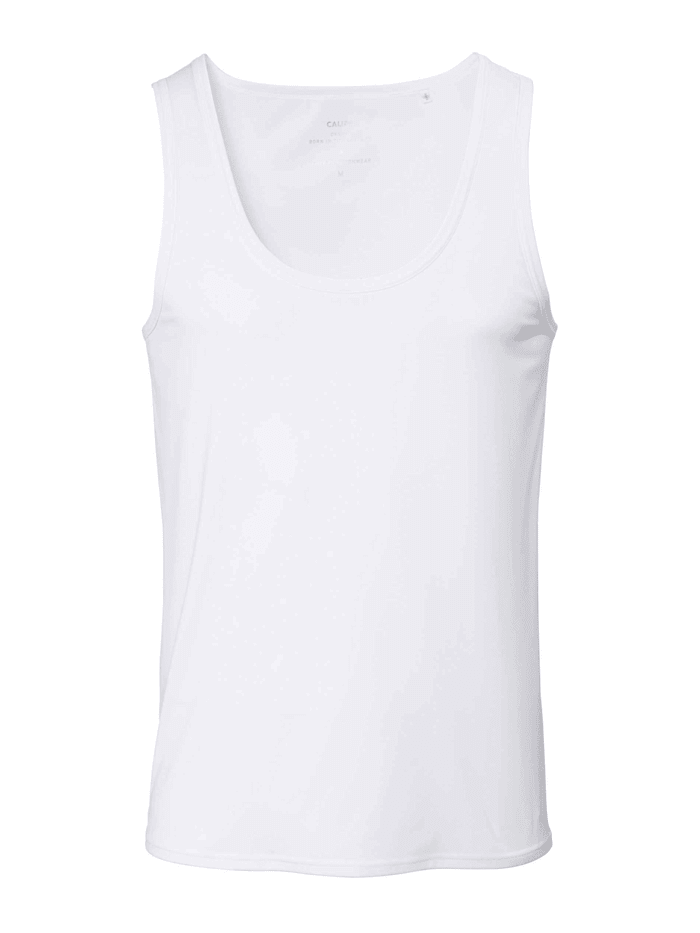 Calida Athletic-Shirt mit Frackschnitt Ökotex zertifiziert, white