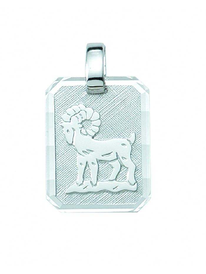 1001 Diamonds Damen & Herren Silberschmuck 925 Silber Sternzeichen Anhänger Widder, silber