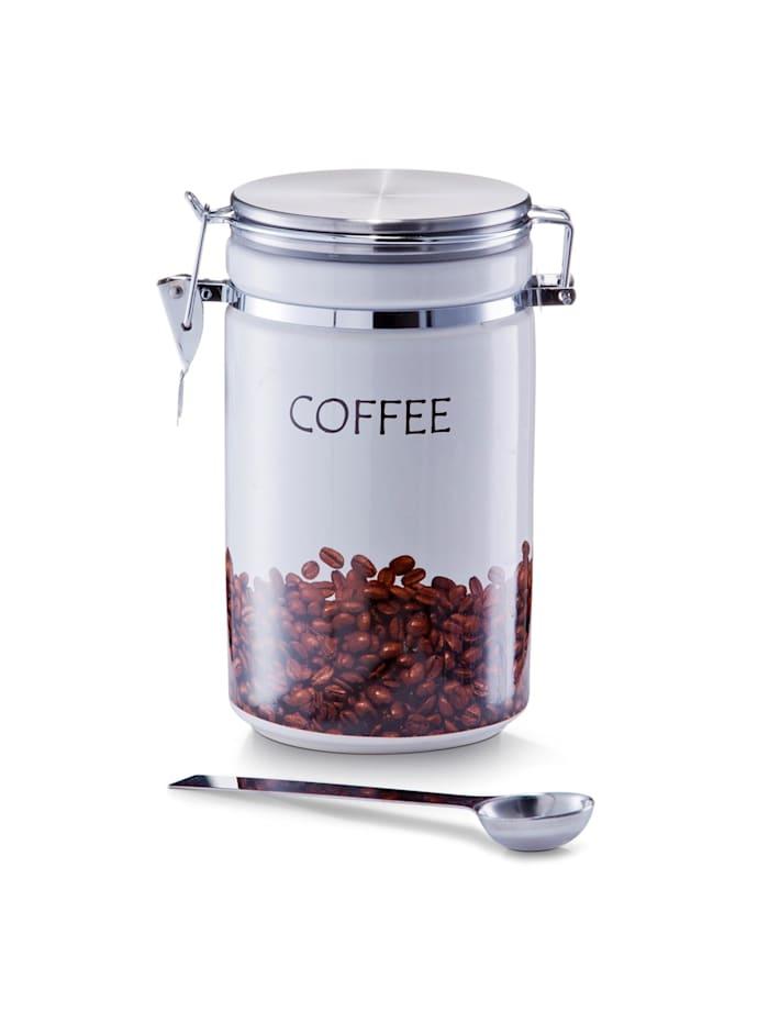 Neuetischkultur Kaffeedose mit Löffel, Weiß