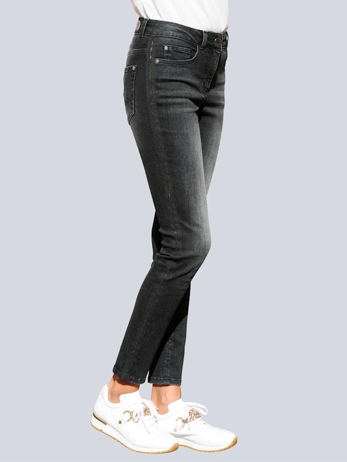 Alba Moda Jeans in Röhrenform, Schwarz