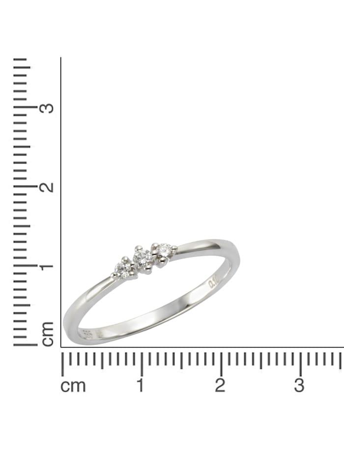 Ring 585/- Gold Brillant weiß Brillant Glänzend 0,10ct. 585/- Gold
