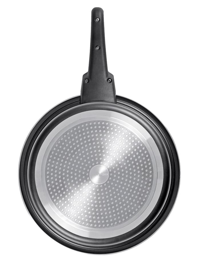 3tlg. BRATmaxx Aluminium-Pfannen-Set 'Click on'