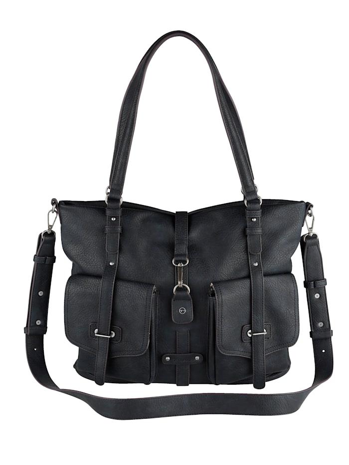 Tamaris Handtasche mit praktischer Fächereinteilung, marine