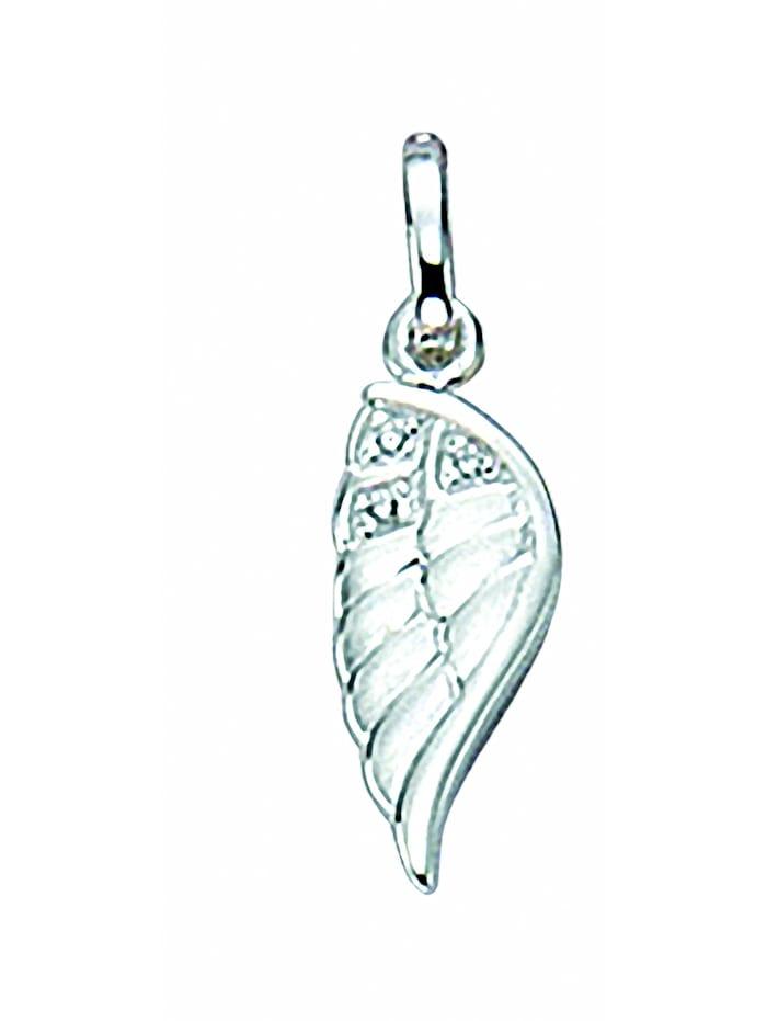 1001 Diamonds Damen Silberschmuck 925 Silber Charms Anhänger Fluegel mit Zirkonia, silber