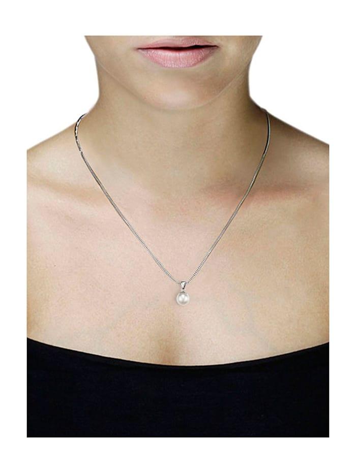 Collier 925/- Sterlingsilber 1 Perle